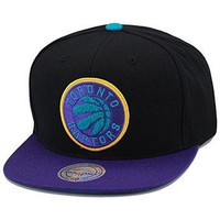 Mitchell & Ness Toronto Raptors Snapback Hat For Jordan 8 Retro Aqua