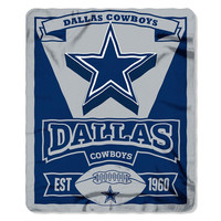 Dallas Cowboys NFL Light Weight Fleece Blanket (Marque Series) (50inx60in)