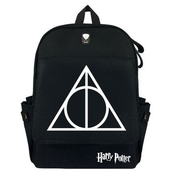 Anime Backpack School kawaii cute Harry Potter Cartoon for teenagers Backpacks Student School Bags Canvas Laptop Shoulders Bag Unisex Casual Travel Bag AT_60_4
