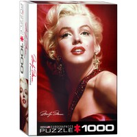 Marilyn Monroe - Red Portrait - 1000 Piece Jigsaw Puzzle