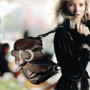 **PRINT AD** With Kate Moss For Dior Black Leather Handbags **PRINT AD**