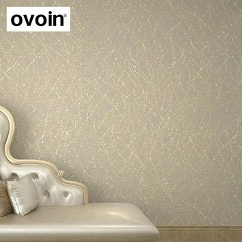 Neutral Plain Solid Color Modern Geometric Stripes Textured Vinyl Wallpaper For Walls Gold Abstract Branches Metallic Wall Paper