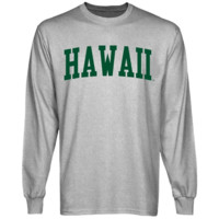 Hawaii Warriors Basic Arch Long Sleeve T-Shirt - Ash