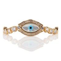 Evil Eye Bracelet 18K Gold Plated and CZ Bracelet for Daughter,Friend Birthday with Gift box