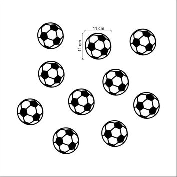 10 pcs Personalized Football Soccer Ball wall sticker sports boys bedroom art vinyl Wall Sticker For Kids Rooms Nursery Decor