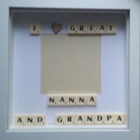 I love my grandparents family scrabble custom personalised keepsake photo box frame. Birthday gift home and wall  decoration