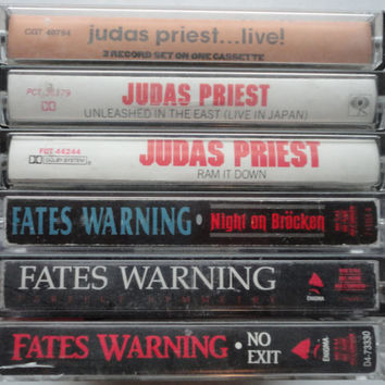 JUDAS PRiEST FATES WARNiNG cassette tape LoT vintage music cassettes collection heavy metal