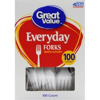 Great Value Everyday Forks, 100 ct - Walmart.com