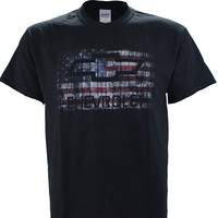 Chevy Chevrolet American Flag on a Black T Shirt