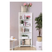 "78"" Iohomes Mcafee Contemporary 5 Tier Corner Bookshelf"