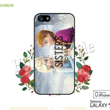 Disney frozen Phone case iPhone 5/5S/5C Case, iPhone 4/4S Case,  sister love, S3 S4 S5 Note 2 Note 3 Case for iPhone-B0210