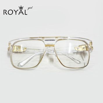 TOP Quality Luxury Men Brand Glasses Vintage Oversize Clear Frames Glasses Women Eyeglasses ss098