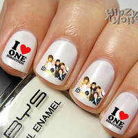 "20 ""I Love One Direction #3""  Quality Nail Art Decals Water Slide/Transfer by HipZySticKy"