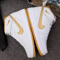 NIKE Running Sport Casual Shoes Women Men Sneakers High tops shoes Golden