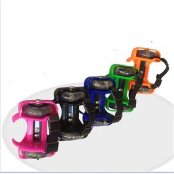 New Flashing Skate Heel Skates Kid Roller Skates Blades Adjust Sizes LED Light