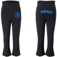 Capri Pants - Twiztid - Blue W.I.C.K.E.D. Logo - Black - Artists