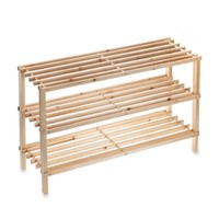 3-Tier Stackable Wood Shoe Rack