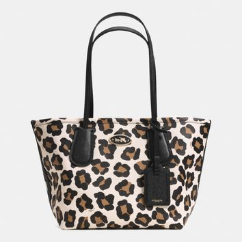 COACH TAXI TOTE 24 IN OCELOT PRINT LEATHER