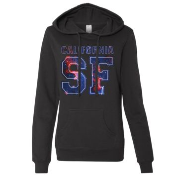 California SF Nebula Ladies Lightweight Fitted Hoodie