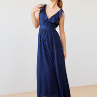 Long silk crepe dress - View all - New in - Uterqüe United Kingdom