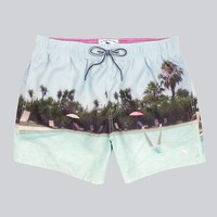 Ted Baker - Handsta Pool Photo Print Swim Shorts | ACCESSORIES | nigelclare.com