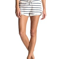 Signature Stripe Fleece Shorts 889351605825 | Roxy