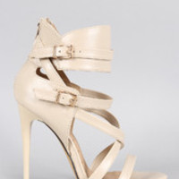 Women's Buckle Strappy Stiletto Heel