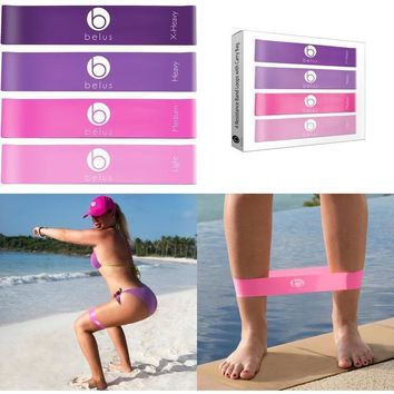 Belus Resistance Bands with Carry Bag, Video Download and eBook.