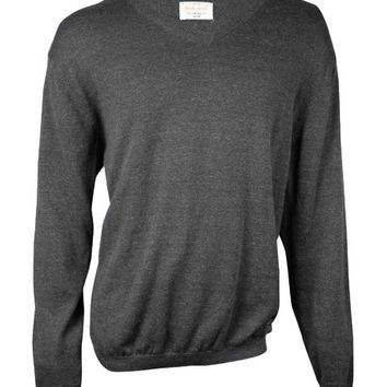 Weatherproof Men's V-Neck Slub Cotton Sweater