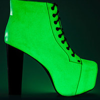 The Lita Glow in the Dark Shoe with Black Heel