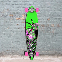Punked Bird 40 inches Green Pintail Longboard