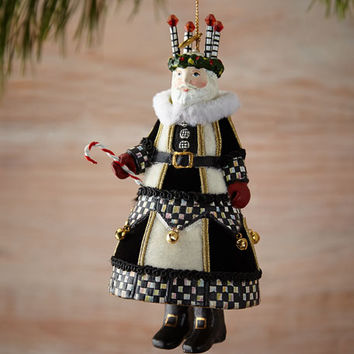 MacKenzie-Childs Noel Advent Santa Christmas Ornament