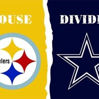Dallas Cowboys and Pittsburgh Steelers: House Divided Flag; 3'x5'
