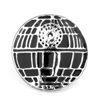 Movie Series Fashion Clothing Accessory Star Wars Death Star Plane Shape Pin Metal Brooch