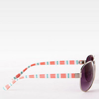 Newport Striped Sunglasses
