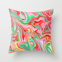 Summer Abstract2 Throw Pillow by LEMAT WORKS