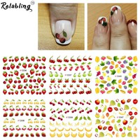 Summer fruit purple & banana water transfer nail sticker on finger nails stickers for women nail sticker decal nail art