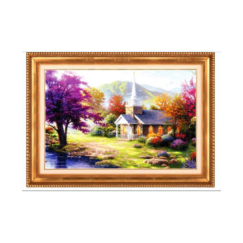 5D Diamond Painting Full-jewelled Cross Stitch Living Room Oil Painting Small House Diamond Paste Sakura's Story Diamond Stitch