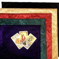 Velvet Tarot or Altar Cloth - Black, Gold, Green, Purple, or Red Oracle Runes Wicca Spread