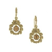 Gold-Tone Lt. Colorado Topaz Drop Earrings