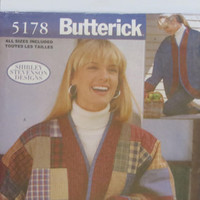 Butterick Shirley Stevenson design sewing pattern 5178 women's oversized jackets size S M L XL