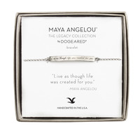 """Live Life As Though Life…"" Id Bracelet, Sterling Silver 