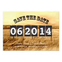 Rustic Country Wedding Save the Date Announcements