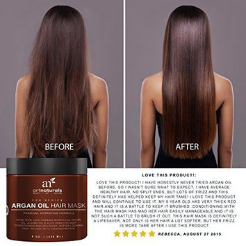 Argan Oil Hair Mask Deep Conditioner 100% Organic Jojoba Aloe 8 Oz Cosmetics