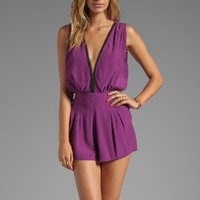 Motel Janey Jumpsuit in Purple from REVOLVEclothing.com