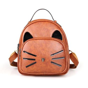 Cartoon Lovely Cat Backpack School Bag Satchel Shoulder Bags