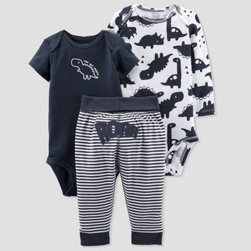 Baby Boys' 3pc Turn Me Around Dino Set - Just One You™ Made by Carter's® Navy