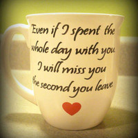 Beautiful quote for a beautiful person custom made cup, Perfect gift for a special someone coffee or tea mug. Valentines Day Gift,