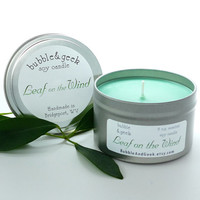 Leaf on the Wind Scented Soy Candle - 8 oz. tin