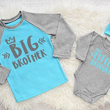 Personalized Brother Shirts. Big  Brother Shirt. Little Brother Bodysuit & Beanie. Big Brother Little Brother. Baby Brother. Add Your Name